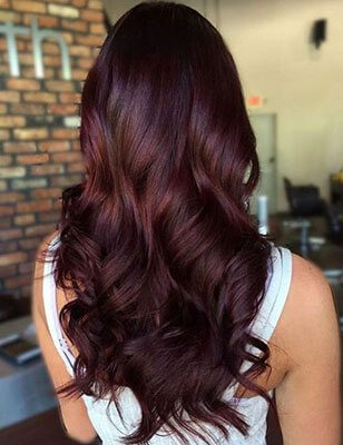 Brown Hair Colour Wedding Hairstyle